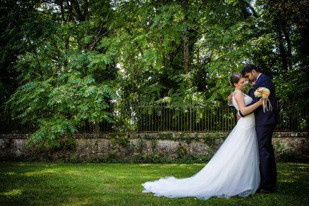 Photo de mariage dans un domaine