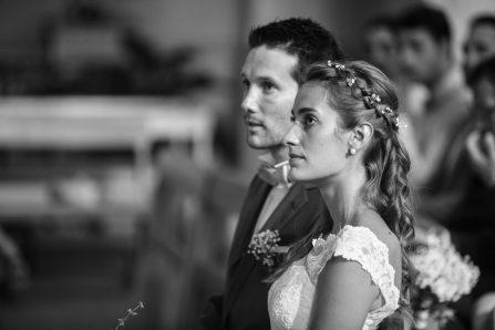 Photographie de mariés en noir et blanc - Fanny Dumaine