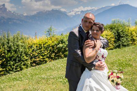 Photo de mariage à la campagne en Savoie
