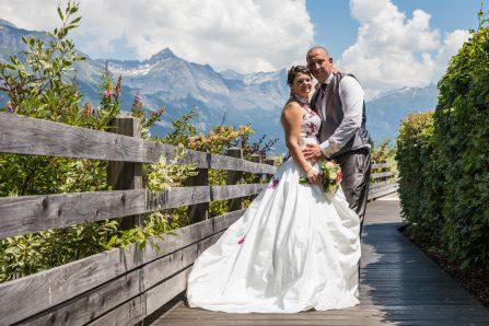 Photo de mariage à la campagne en Haute-Savoie
