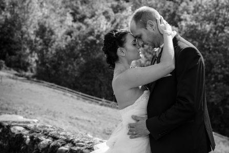 Photo de mariage en noir et blanc