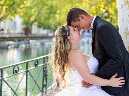Photo de mariage au bord du lac d'Annecy
