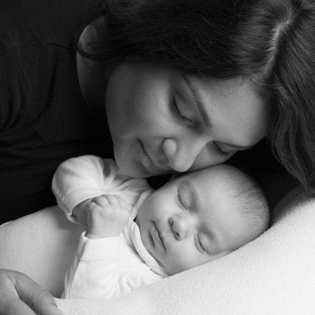 Photo de maternité maman et bébé