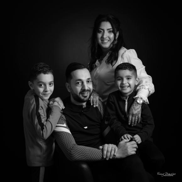 seance famille noir et blanc