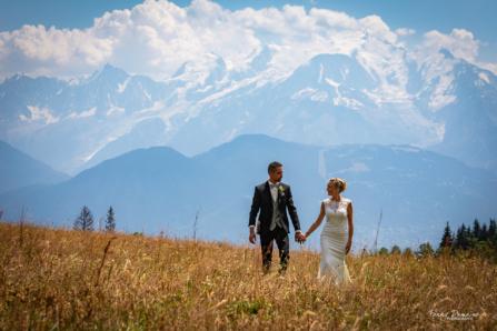 photo de mariage à la montagne